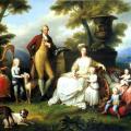 Angelica Kauffmann. Ferdinand IV de Naples et sa famille (1783)