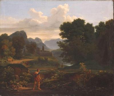 Anne-Louis Girodet et Jean-Pierre Péquignot. Chasseur dans un paysage (1791-94)