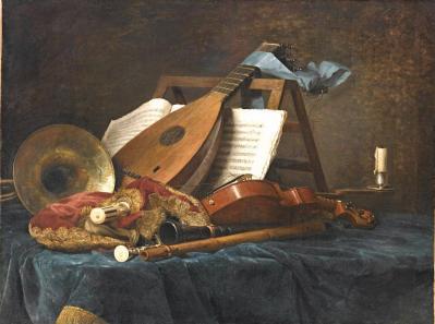 Anne Vallayer-Coster. Instruments de musique (1770)