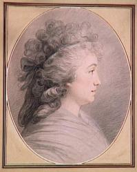 AAnonyme. Portrait de profil de Madame Vallayer Coster (fin 18e s.)