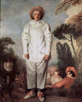 Antoine Watteau. Pierrot (1718-19)