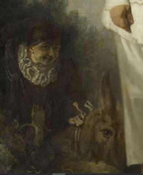 Antoine Watteau. Pierrot, détail