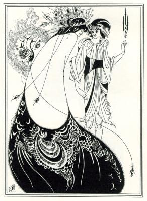 Beardsley. La robe de paon (1892)