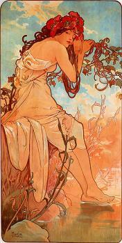 Mucha. L'été (1896)