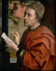 Autoportrait présumé. Saint-Luc dessinant la Vierge, détail (1435-1440)