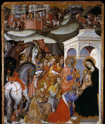 Bartolo di Fredi. L'Adoration des Mages (1385-88)