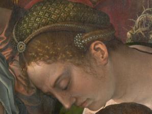 BBernard van Orley. Triptyque Haneton, panneau central, détail (1520-30)