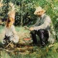 Berthe Morisot. Eugène Manet et sa fille au jardin (1883)
