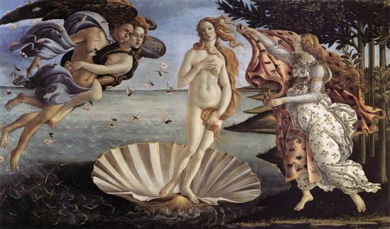 Botticelli. La Naissance de Vénus (v. 1485)