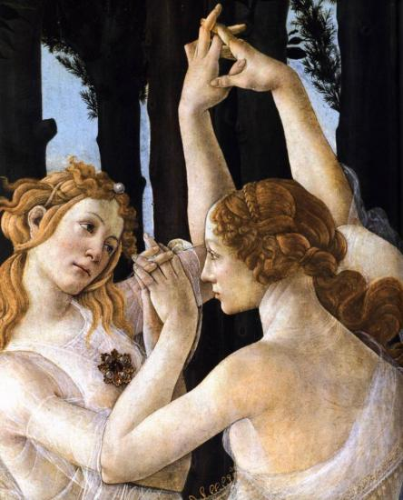 Botticelli. Le printemps, détail 1 (v. 1482)