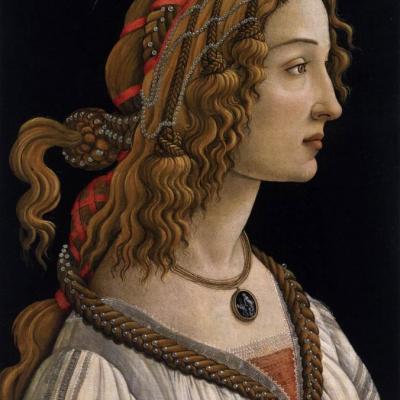 Sandro Botticelli. Portrait de jeune femme (1480-85)