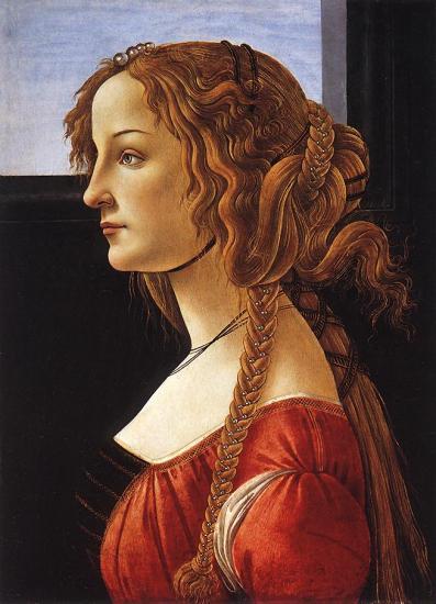 Botticelli. Portrait d'une jeune femme (après 1480)