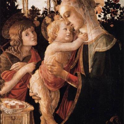 Botticelli. Vierge à l'enfant avec le jeune Saint Jean-Baptiste (1470-75)