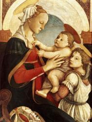 Botticelli. Vierge à l'enfant avec un ange (1465-67)