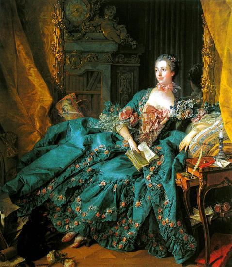 Boucher. Portrait de la Marquise de Pompadour, 1756