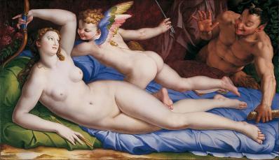Bronzino. Vénus, Cupidon et Satyre (1553-55)