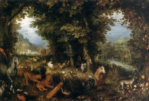 Brueghel. Le paradis terrestre (1607-08)