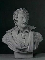 Louis-Denis Caillouet. Buste de Jacob van Ruisdael (1820-21). Musée du Louvre.