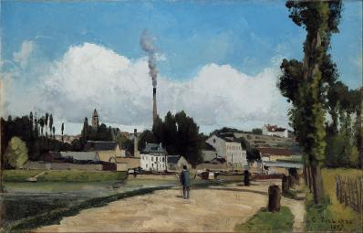 Camille Pissarro. Bords de l'Oise à Pontoise (1867)