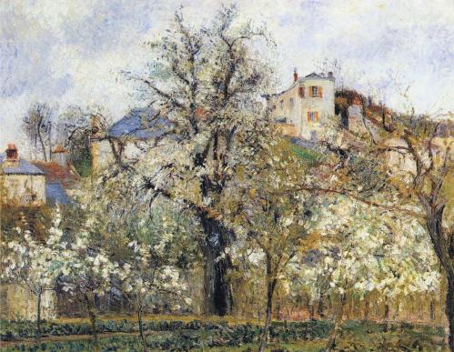 Camille Pissarro. Printemps. Pruniers en fleurs (1877)