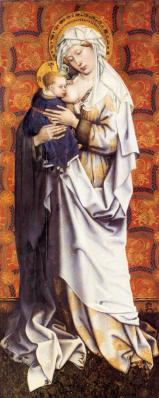 Campin. Panneaux de Flémalle, Vierge à l'enfant (v. 1430)