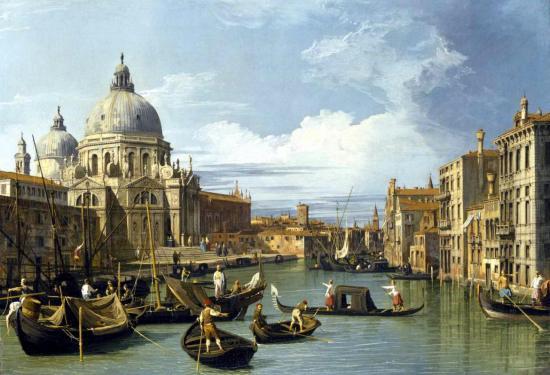 Canaletto. Le Grand Canal et l'Eglise de la Salute, 1730