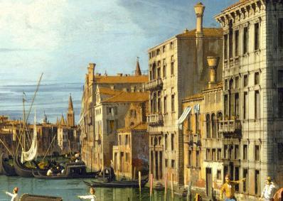 Canaletto. L'entrée du Grand Canal, Venise, détail
