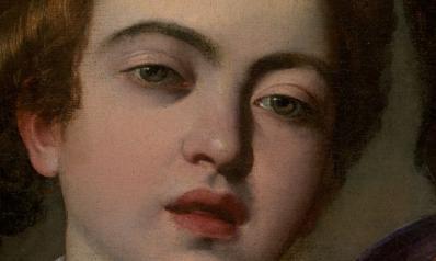 Caravage. Les musiciens, détail (1597)
