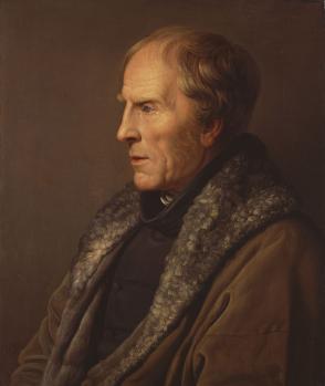 Carl Johann Bähr. Portrait de Caspar David Friedrich (1836)
