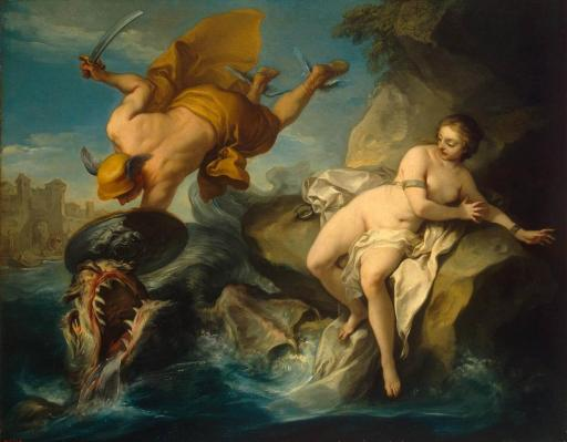 Carle Van Loo. Persée et Andromède (1735-40)