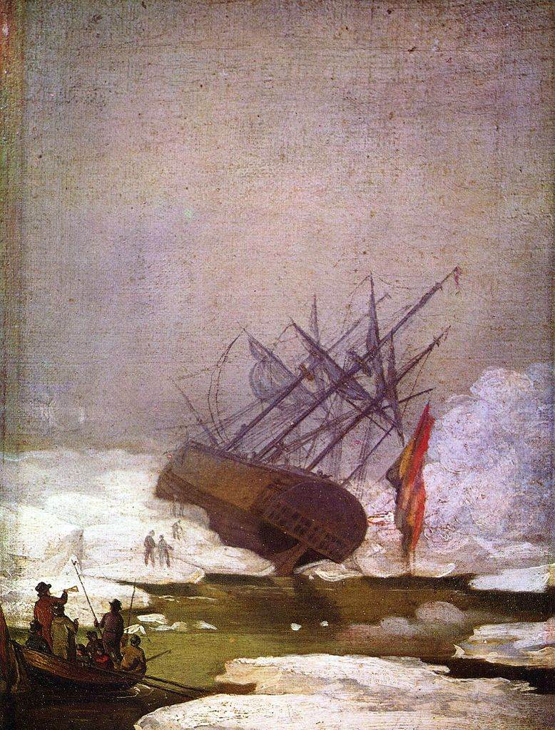 Ca s'est passé en septembre ! Caspar-david-friedrich-epave-dans-la-mer-de-glace-1798
