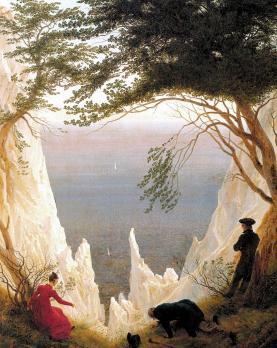 Caspar David Friedrich. Falaises de craie à Rügen (1818-19)