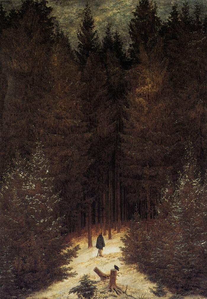 Ca s'est passé en septembre ! Caspar-david-friedrich-le-chasseur-dans-la-foret-1814