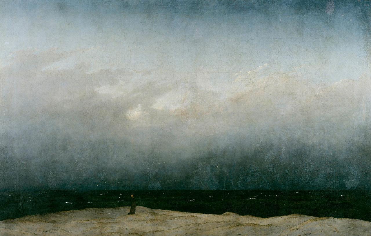 Caspar David Friedrich. Le moine au bord de la mer (1809)