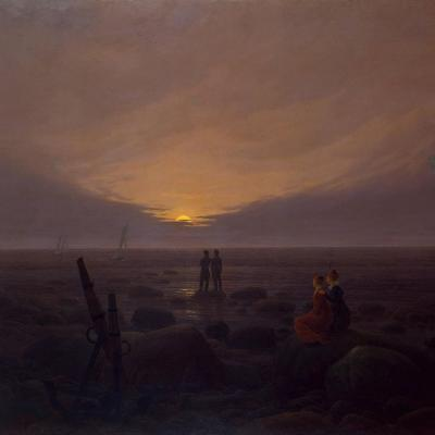 Caspar David Friedrich. Lever de lune sur la mer (v. 1821)