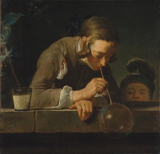 Chardin. La Bulle de savon (1734)