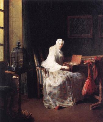 Chardin. La serinette (1751)