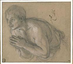 Charles Le Brun. Homme à mi-corps, les mains jointes (1689)