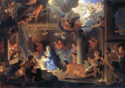 Charles Le Brun. L'adoration des bergers (1689)