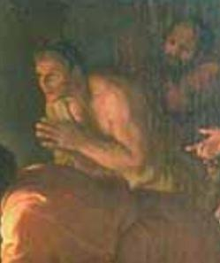 Charles Le Brun. L'Adoration des bergers 2, détail (1689)