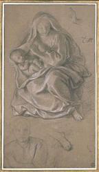 Charles Le Brun. La Vierge et l'enfant (1689)