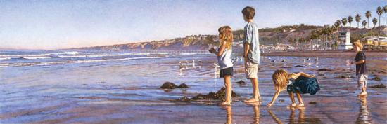 Children on La Jolla Shores