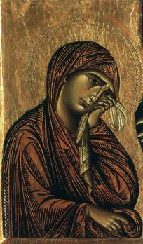 Cimabue. Crucifix, détail (1268-71)