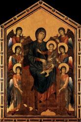 Cimabue. La Vierge et l'Enfant en majesté entourés d'anges (v. 1280)