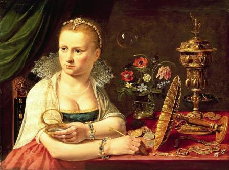 Clara Peeters. Portrait d'une femme en vanité (1613-20)