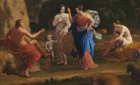 Claude Lorrain. Le jugement de Pâris, détail (1645-46)