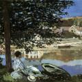 Claude Monet. Au  bord de l'eau à Bennecourt (1868)