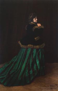 Claude Monet. Camille ou La femme à la robe verte (1866)