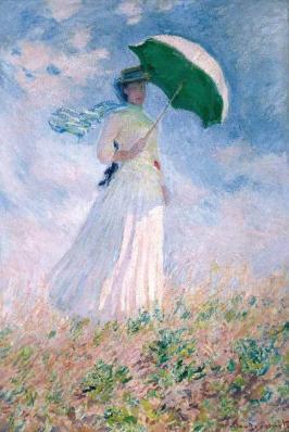 Claude Monet. Femme à l'ombrelle, tournée vers la droite (1886)