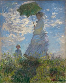 Claude Monet. Femme au parasol. Madame Monet et son fils (1875)